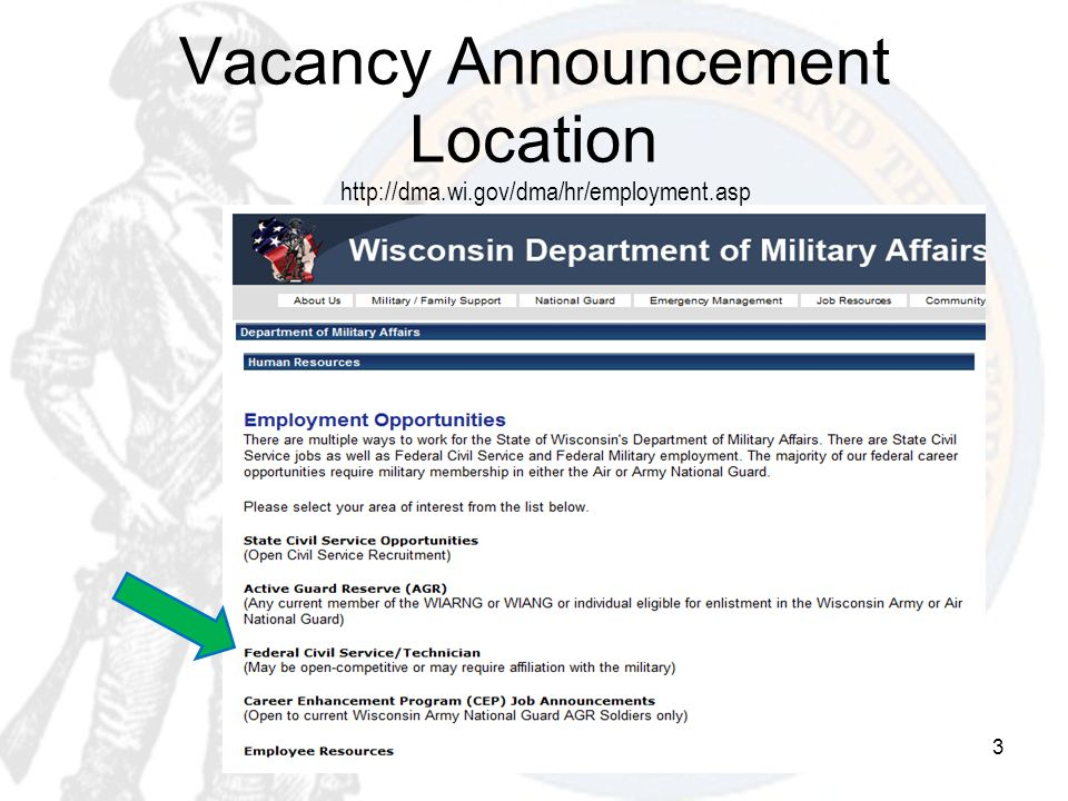 Vacancy Announcement Location
