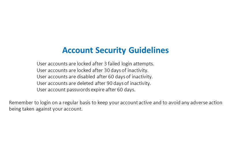 Account Security Guidelines