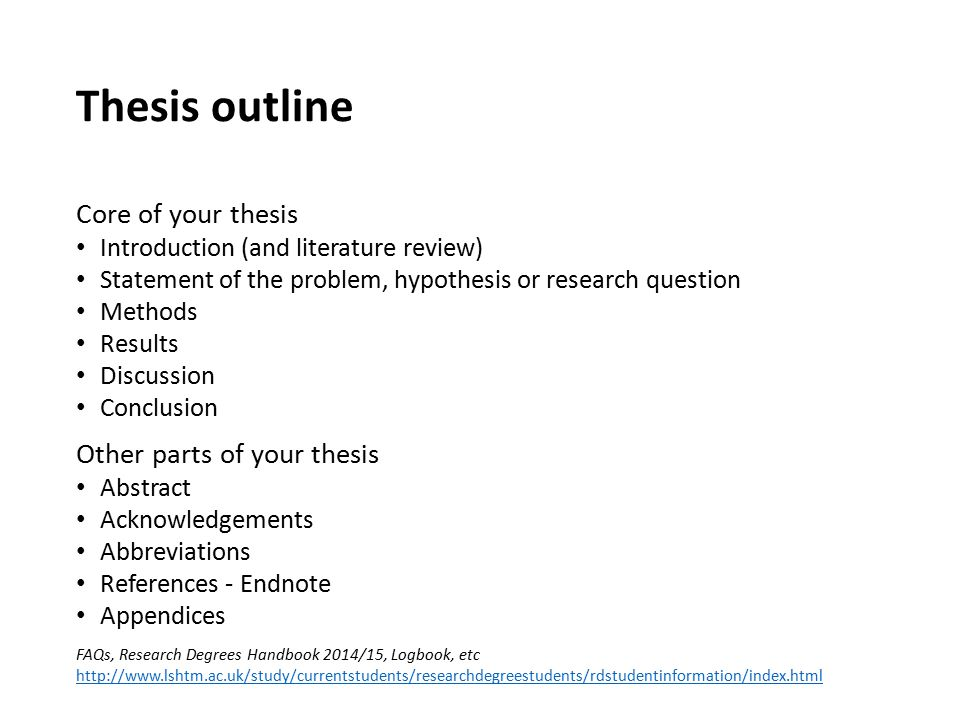 thesis ?? dissertation questionnaire