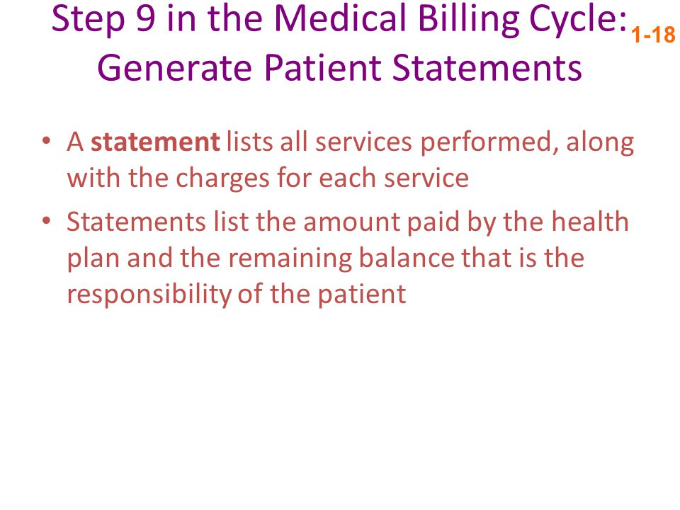 Step 9 in the Medical Billing Cycle: Generate Patient Statements