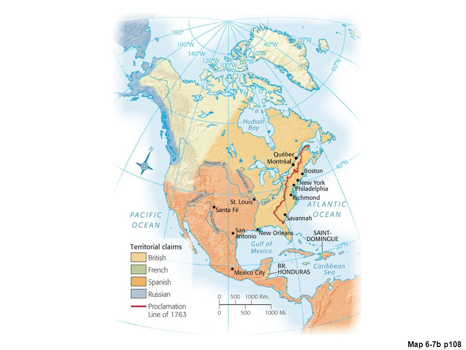 Map Of North America 1763.The Duel For North America 1608 Ppt Video Online Download