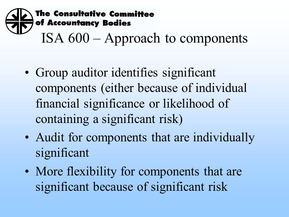ISA 600 – Approach to components