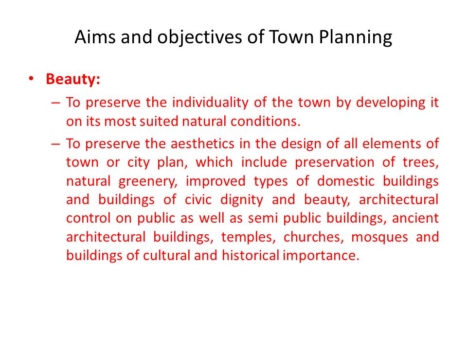 Introduction to Town Planning - ppt video online download