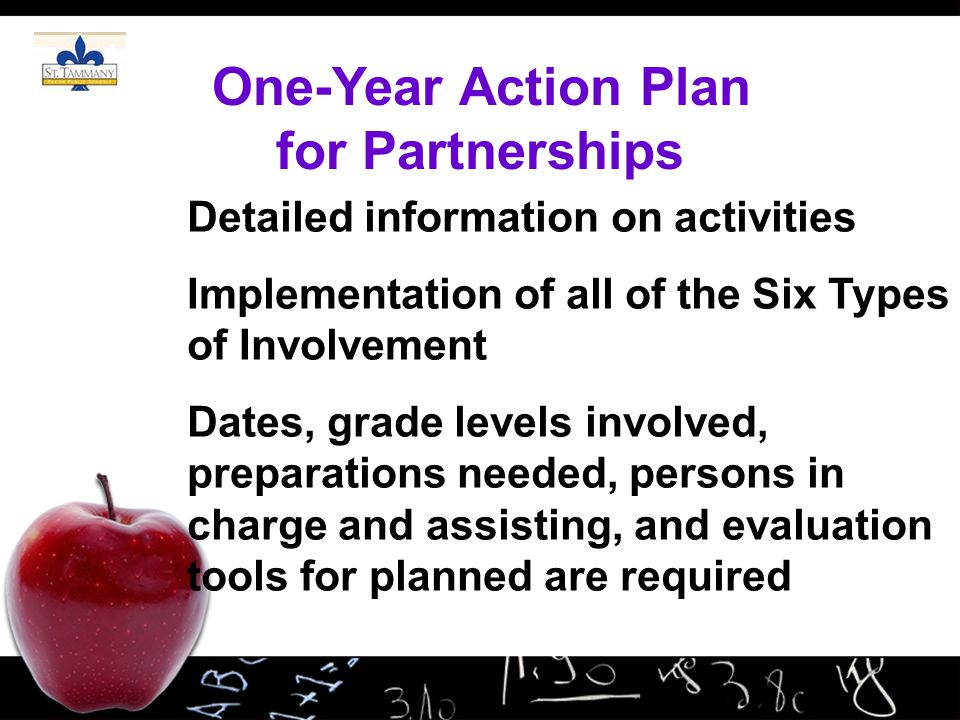 One-Year Action Plan for Partnerships