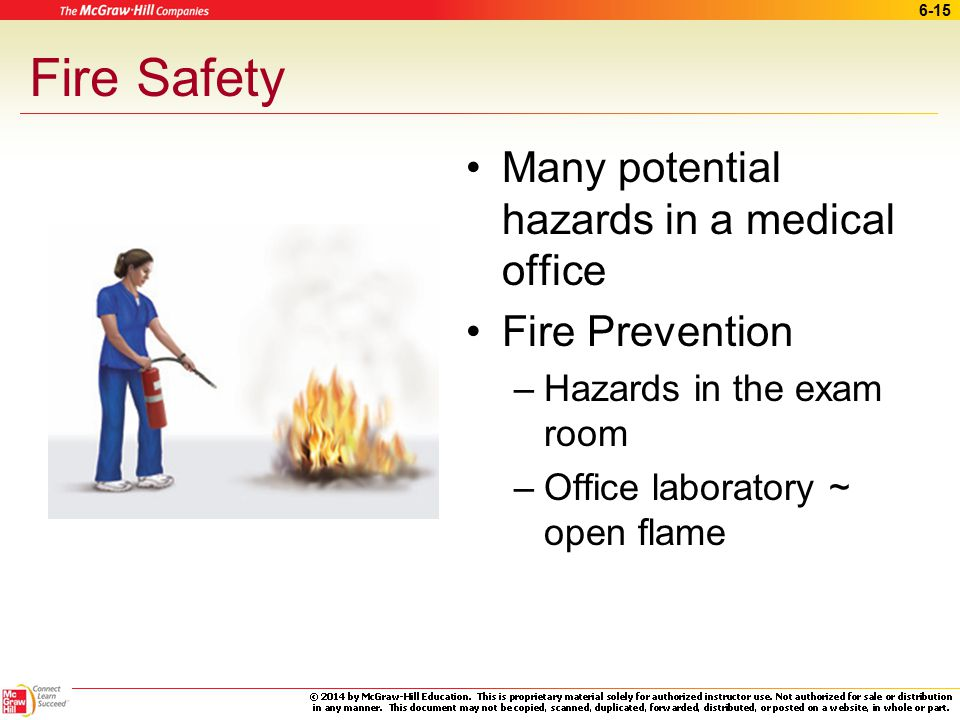 Fire Safety Many potential hazards in a medical office Fire Prevention