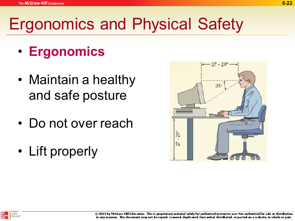 Ergonomics and Physical Safety