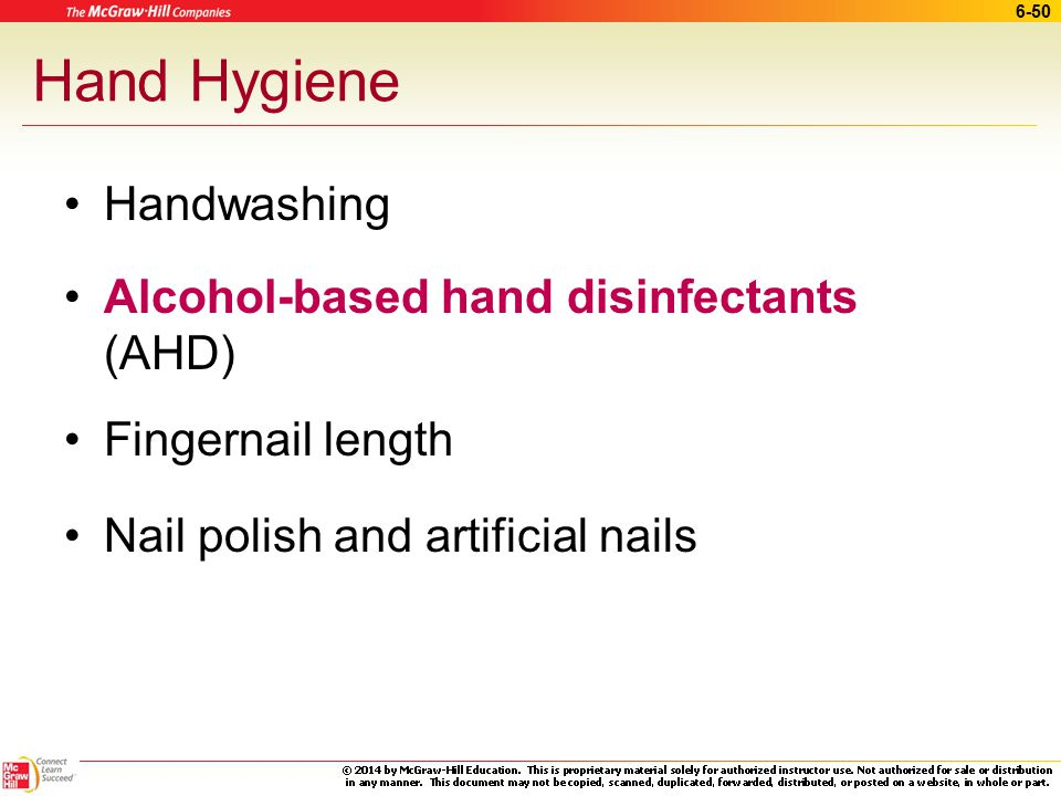 Hand Hygiene Handwashing Alcohol-based hand disinfectants (AHD)