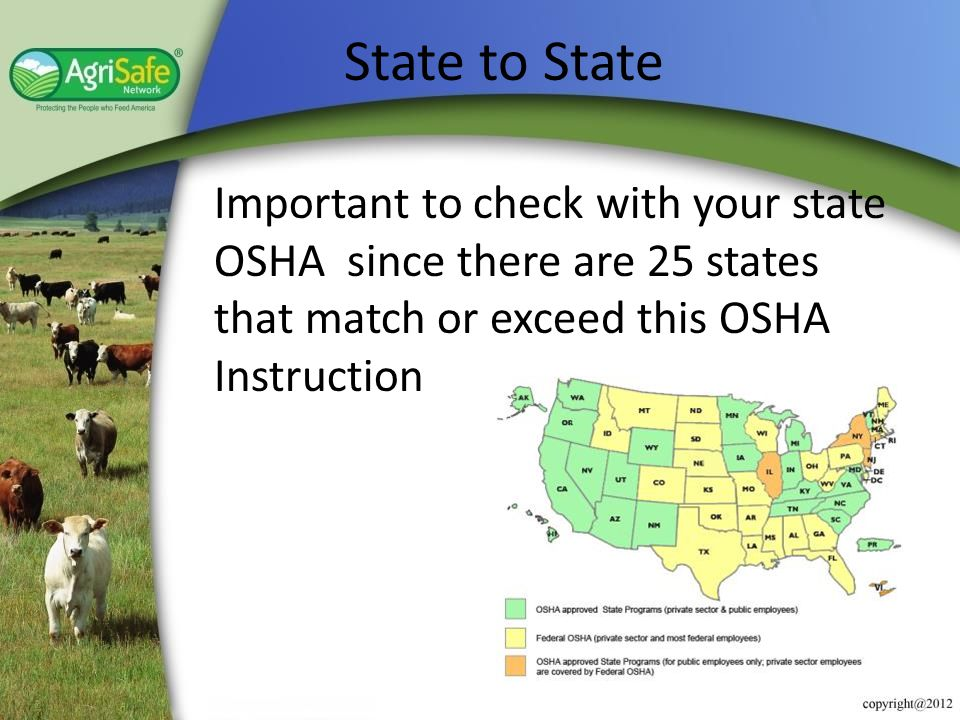 Understanding OSHA's Agriculture Exemption/Standards - ppt