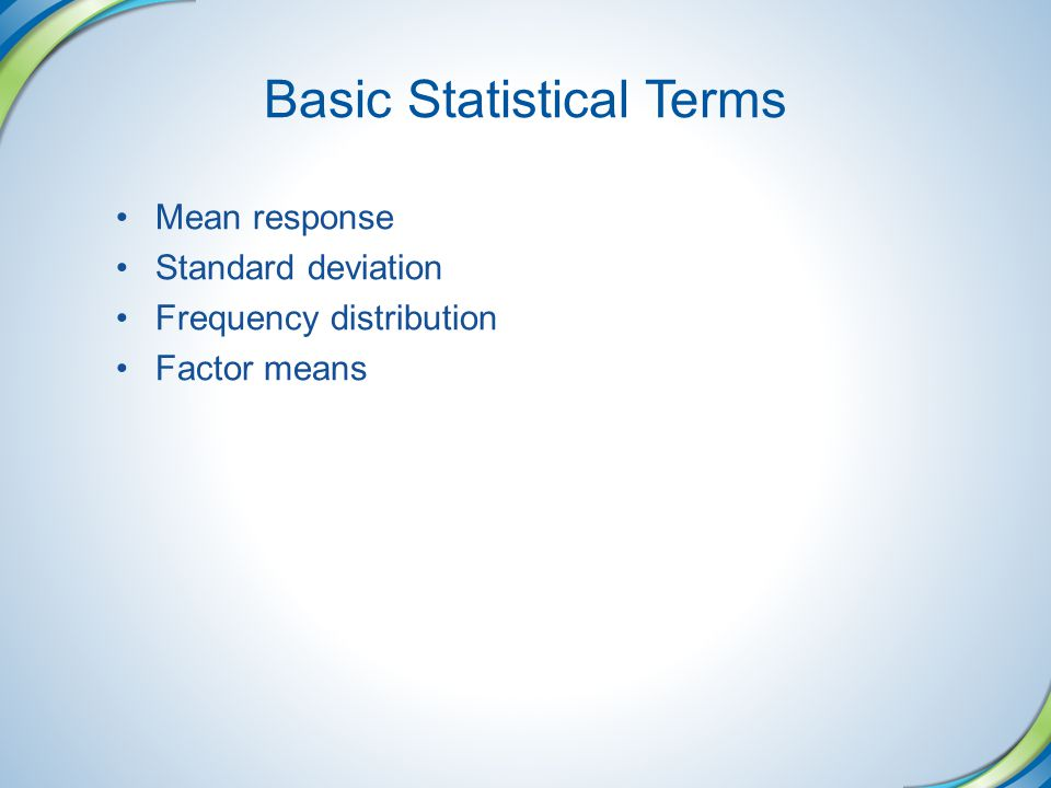Basic Statistical Terms