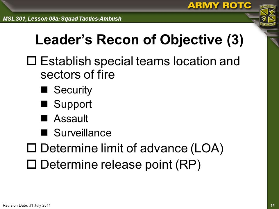 Leader's Recon of Objective (3)