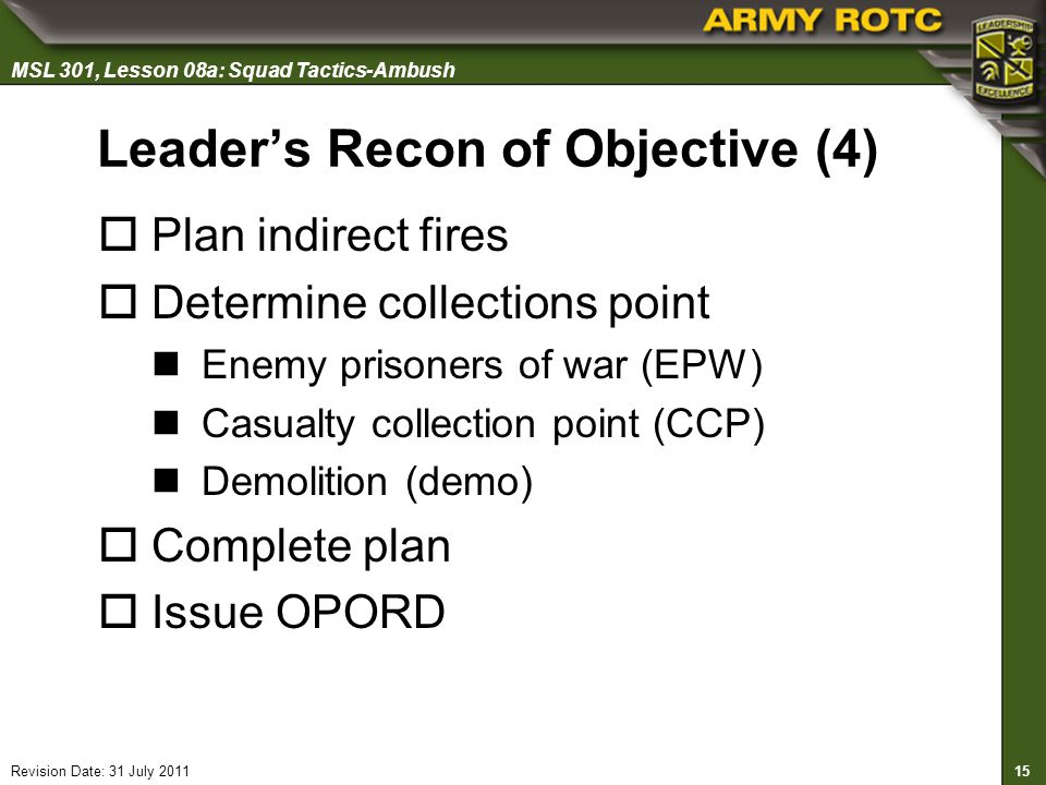 Leader's Recon of Objective (4)
