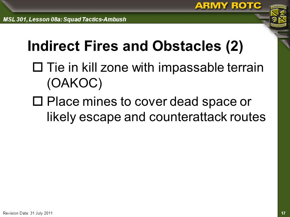 Indirect Fires and Obstacles (2)