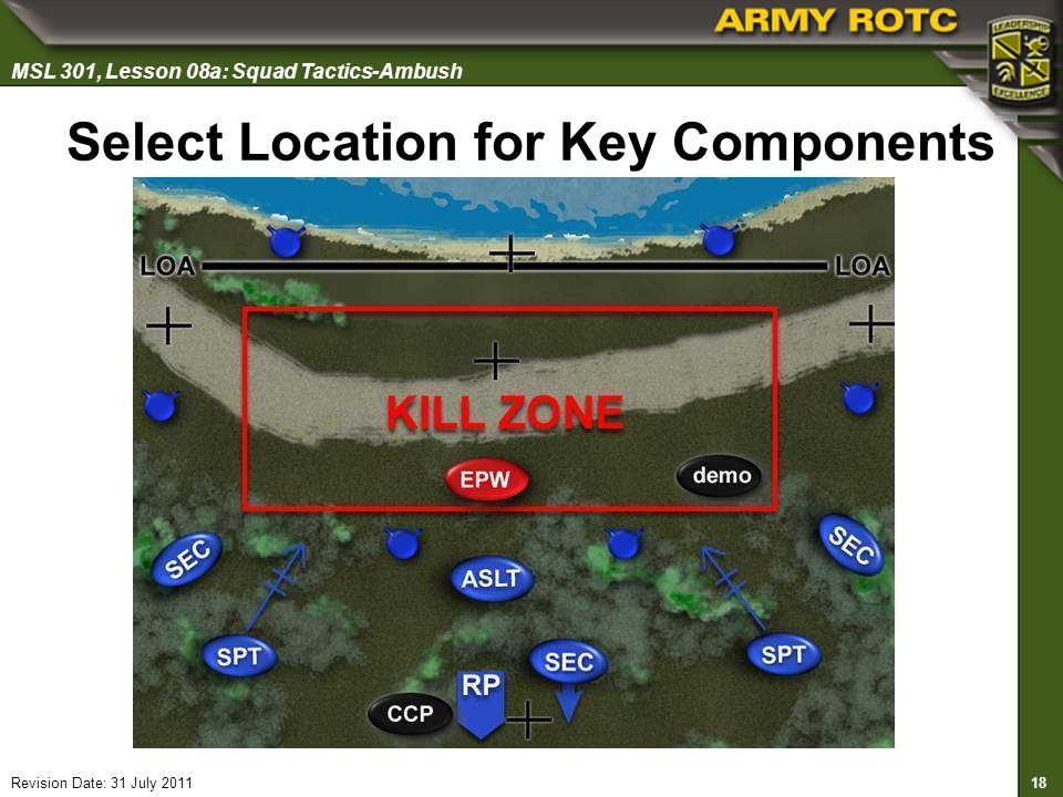 Select Location for Key Components