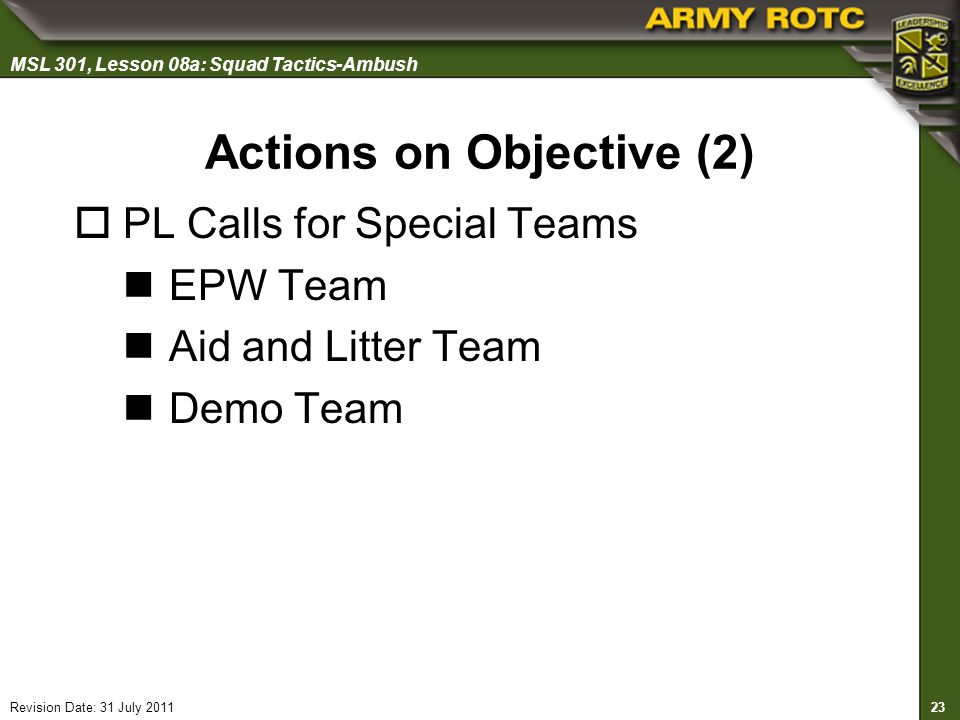 Actions on Objective (2)