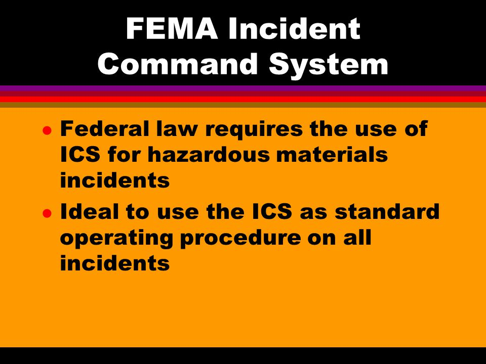 FEMA Incident Command System