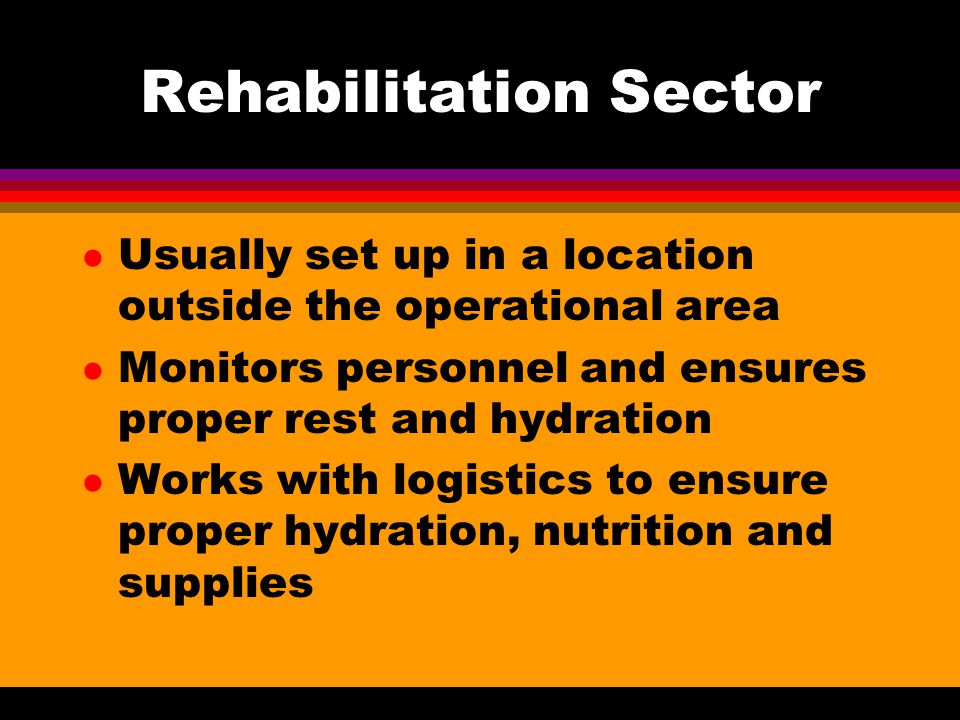 Rehabilitation Sector