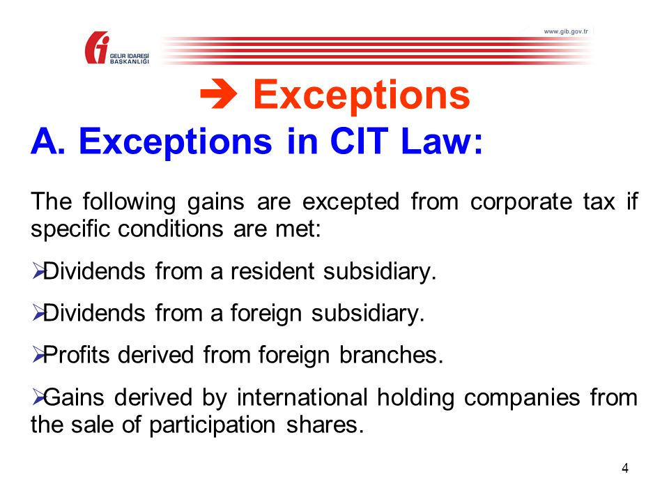 CORPORATE INCOME TAX (Law No:5520) - ppt video online download