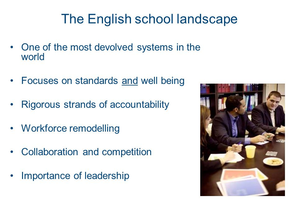 The English school landscape