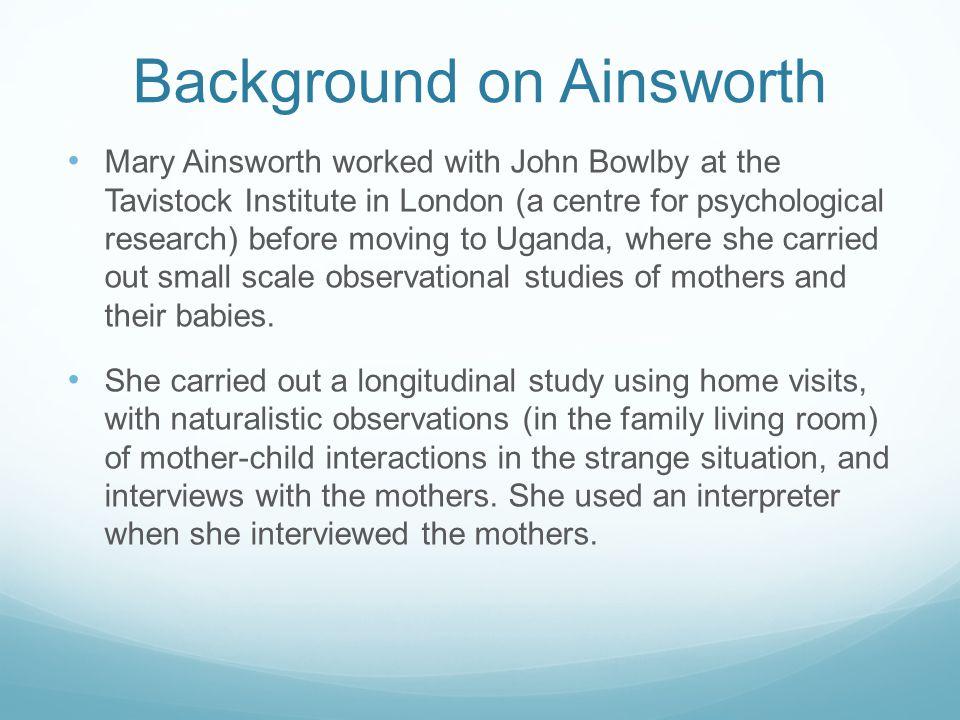 mary ainsworth uganda study