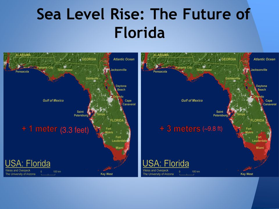 Florida Sea Level Rise Map.How Everglades Restoration Can Mitigate Some Effects Of Sea Level