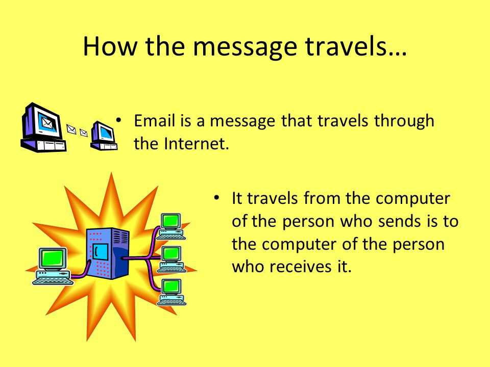 How the message travels…
