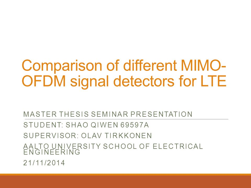 Comparison of different MIMO-OFDM signal detectors for LTE