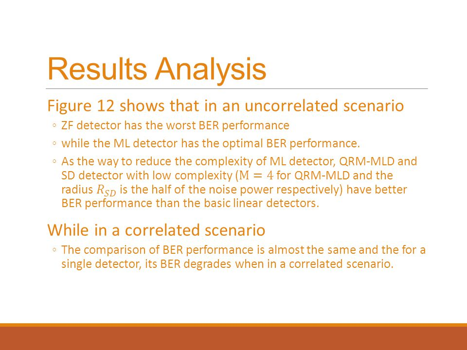 Results Analysis Figure 12 shows that in an uncorrelated scenario