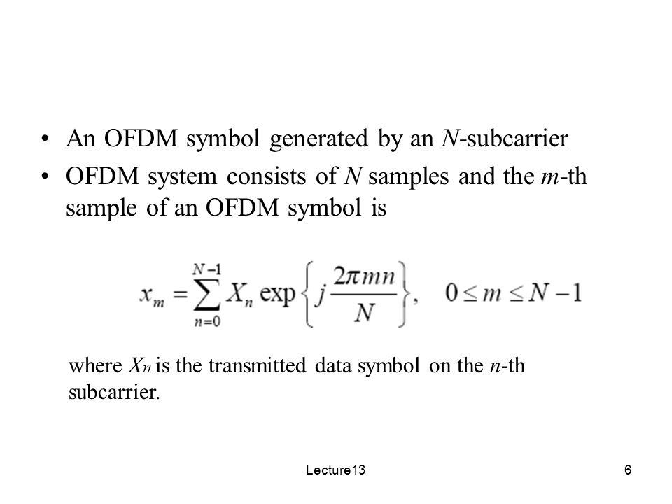 Introduction to OFDM Ref: OFDM_intro pdf - ppt download