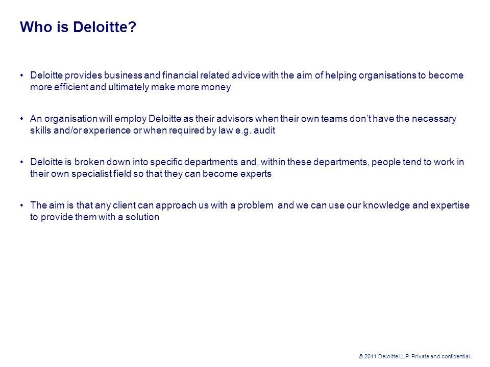 Deloitte graduate opportunities - ppt download