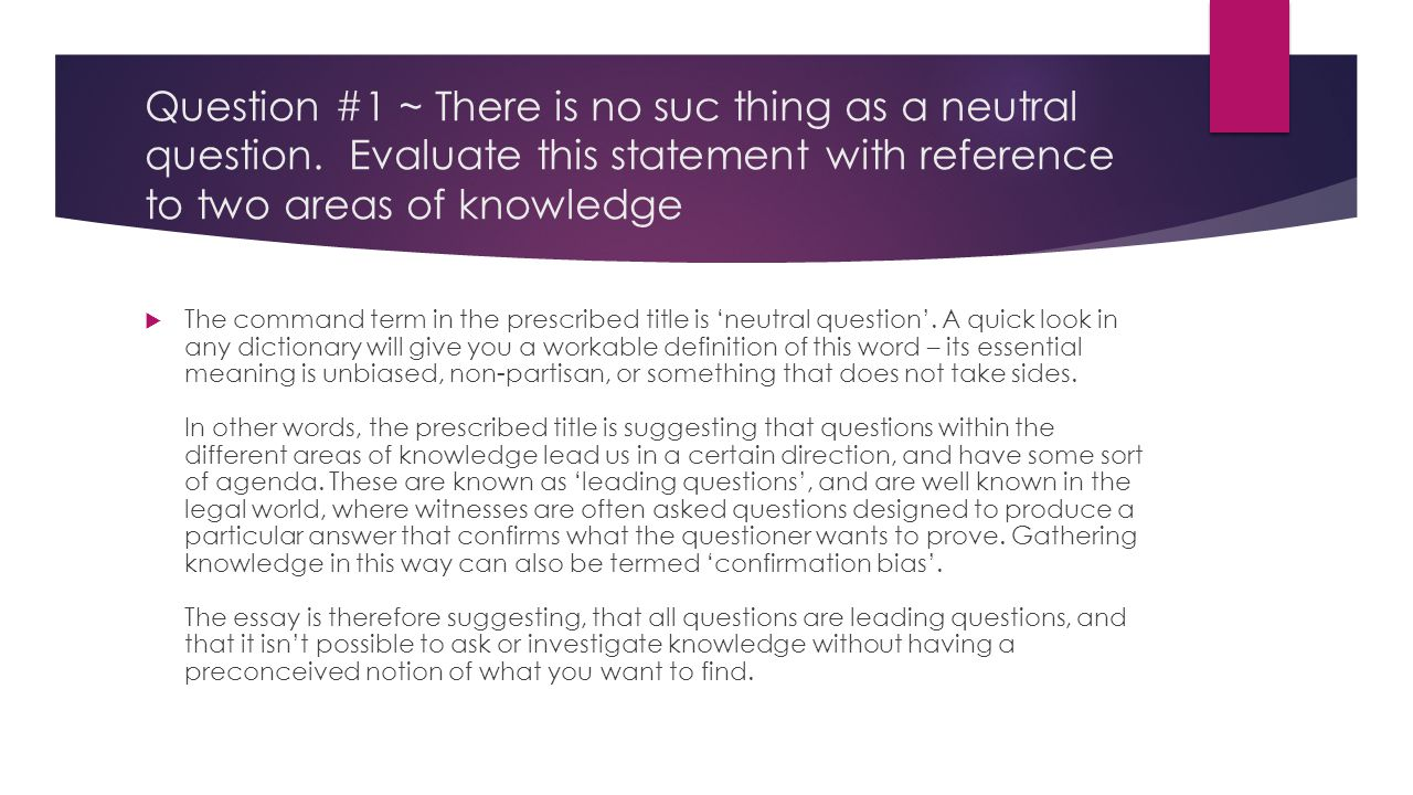 leading question definition