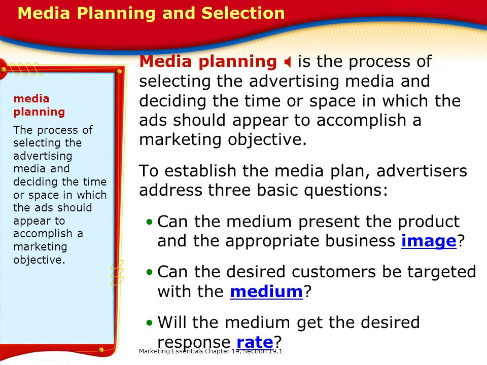 Media Planning and Selection