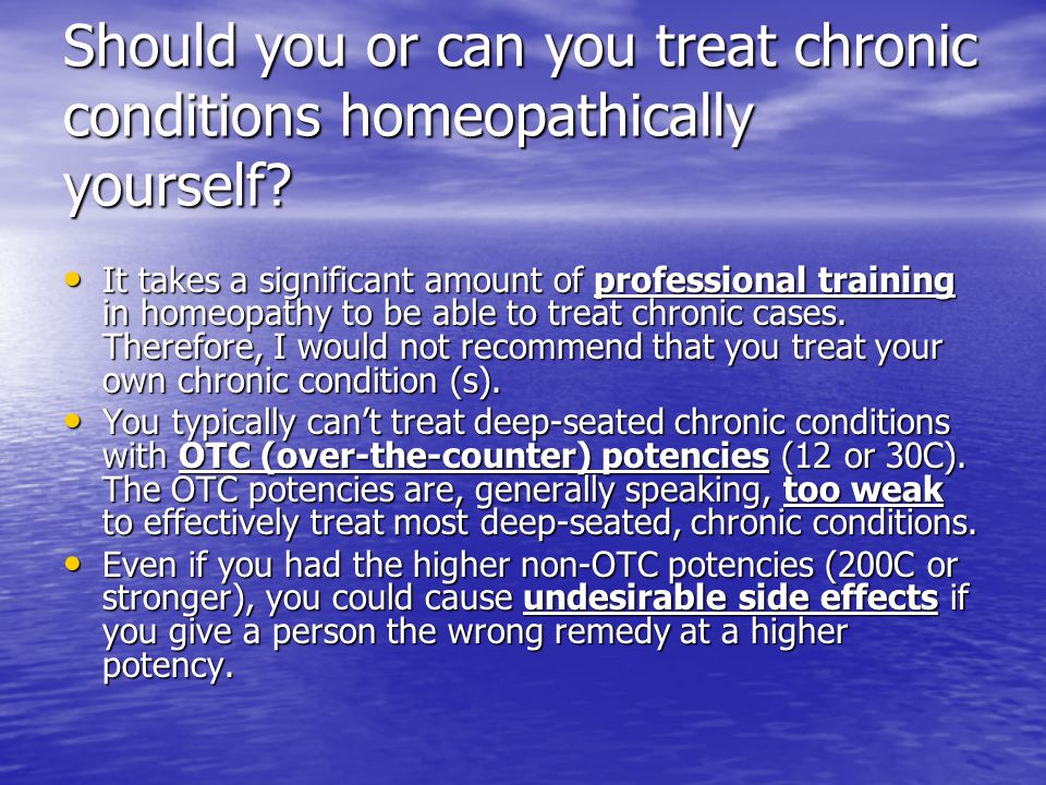 Homeopathy: Application of homeopathy for treatment of acute