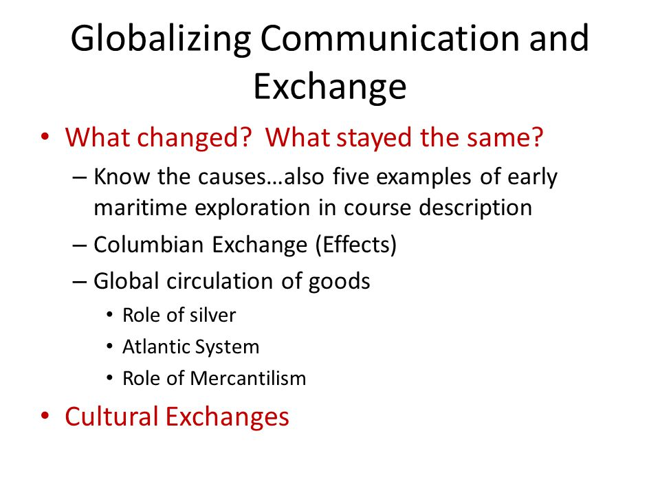 Cultural exchanges ogt benchmark: analyze the way that contacts.