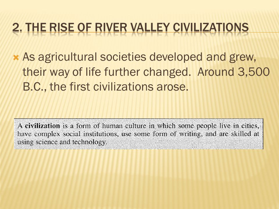 factors that led to the rise of civilization