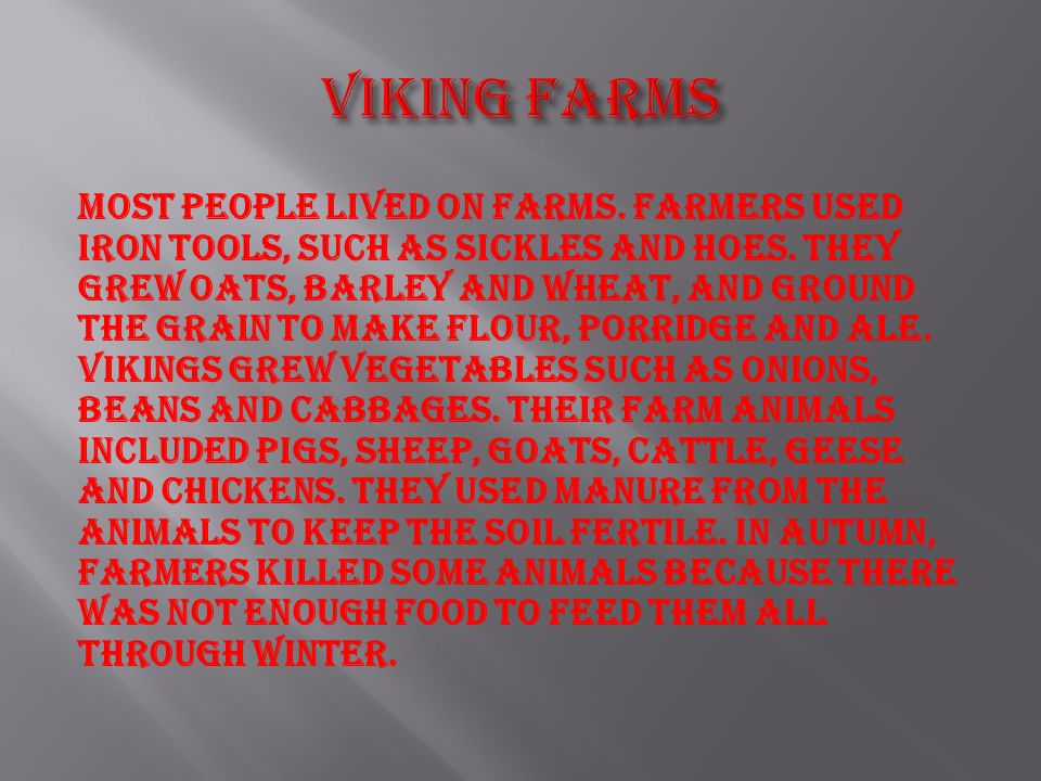 Viking farms