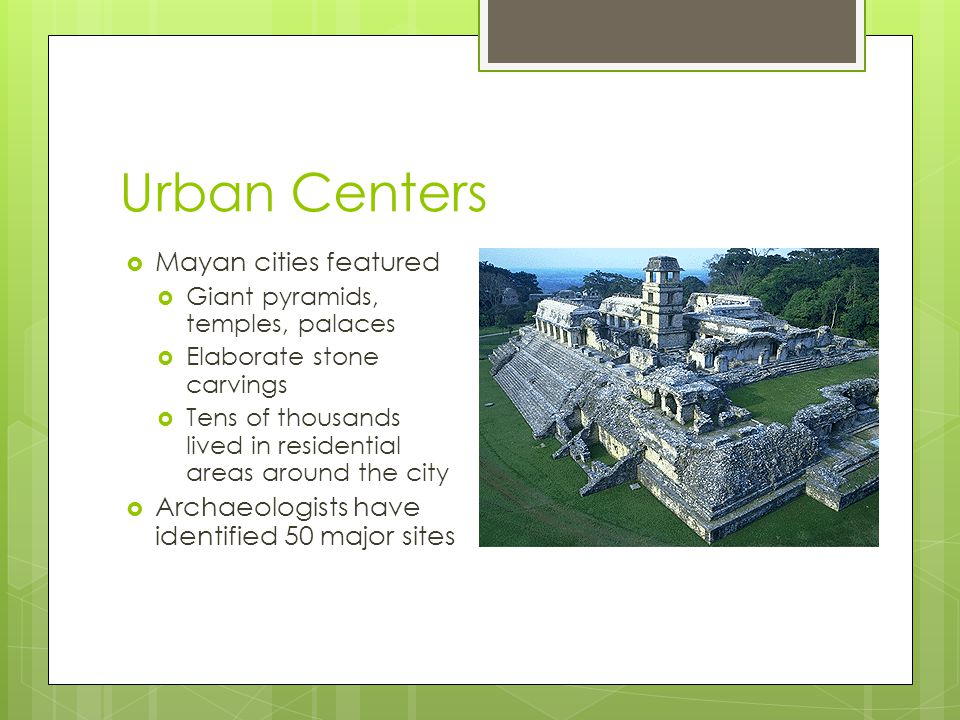 Urban Centers Mayan cities featured