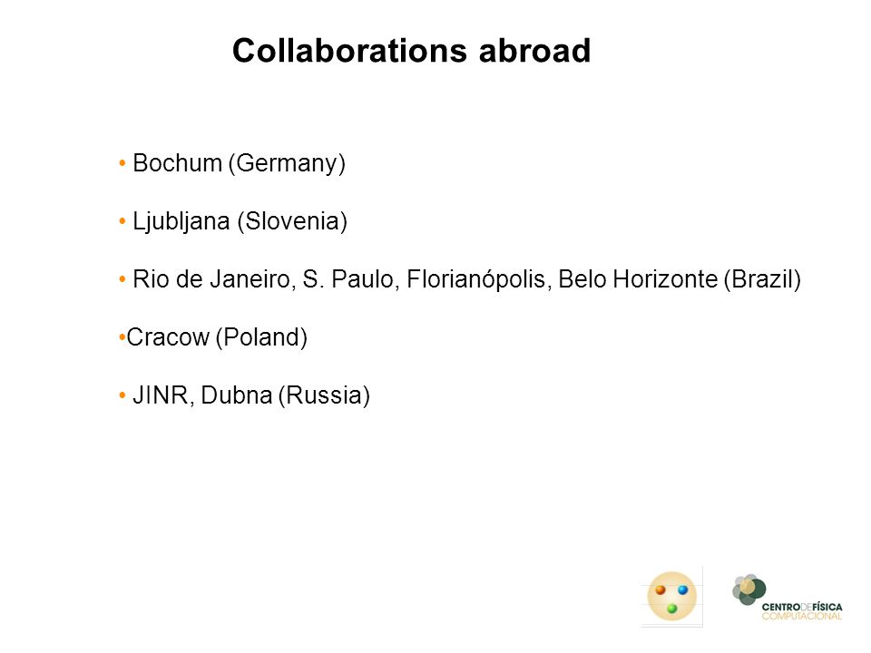 Collaborations abroad