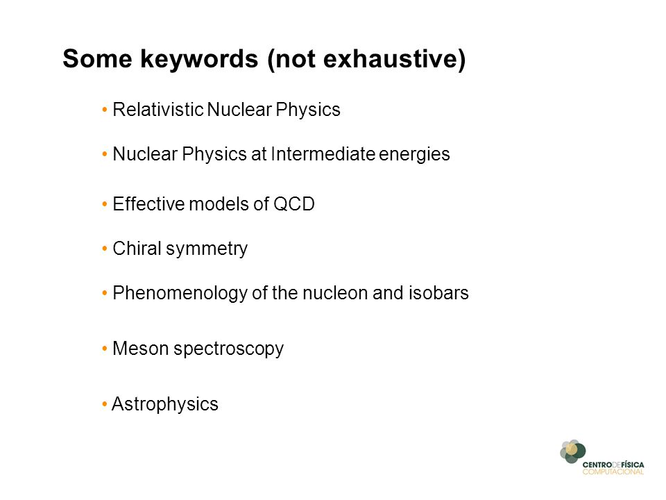 Some keywords (not exhaustive)
