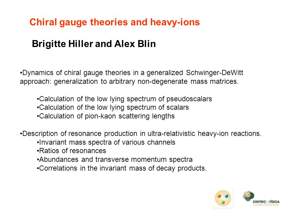 Chiral gauge theories and heavy-ions