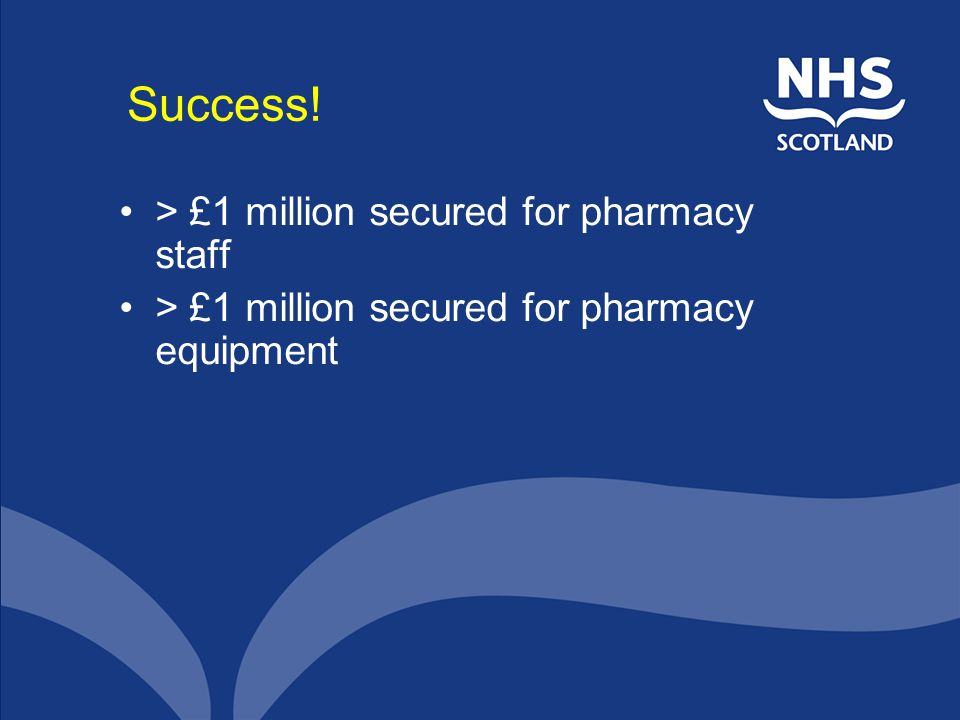 Success! > £1 million secured for pharmacy staff