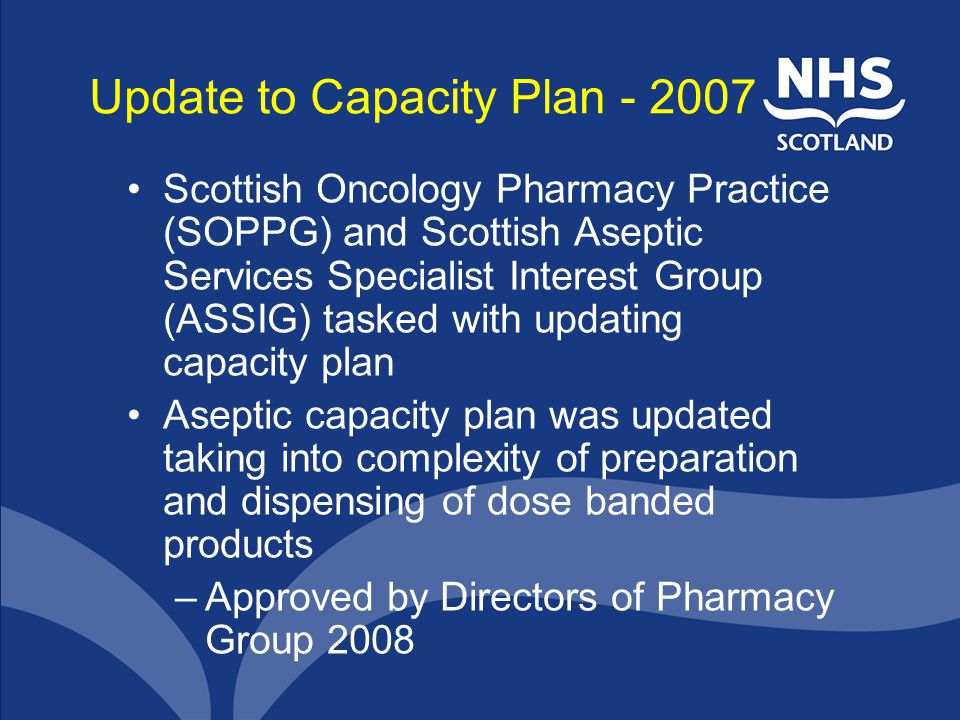 Update to Capacity Plan