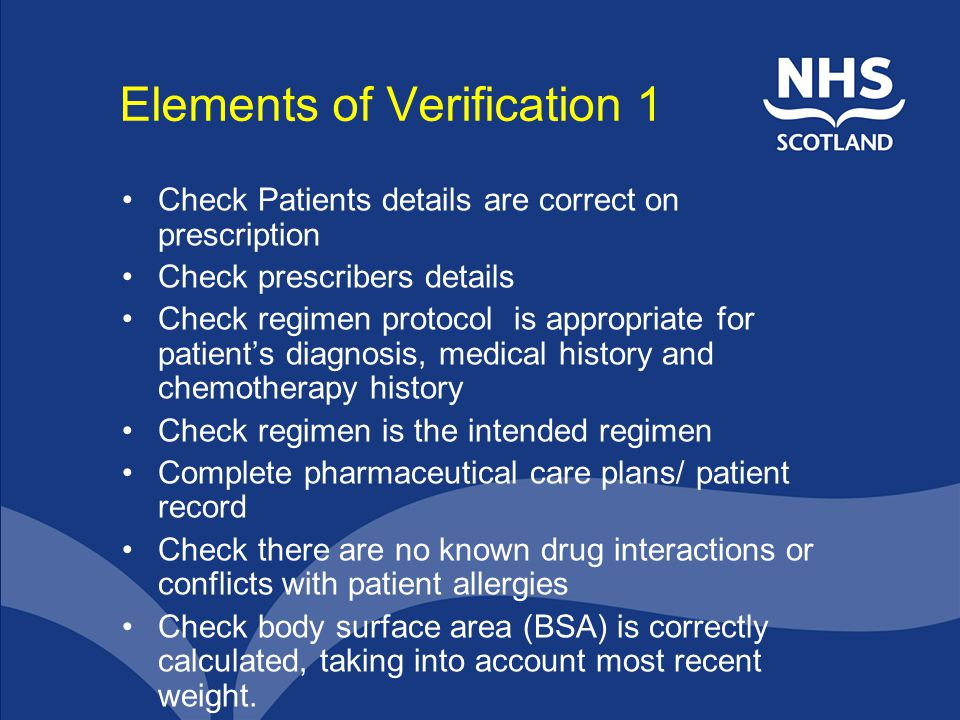 Elements of Verification 1
