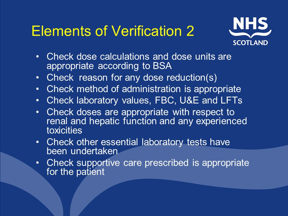 Elements of Verification 2
