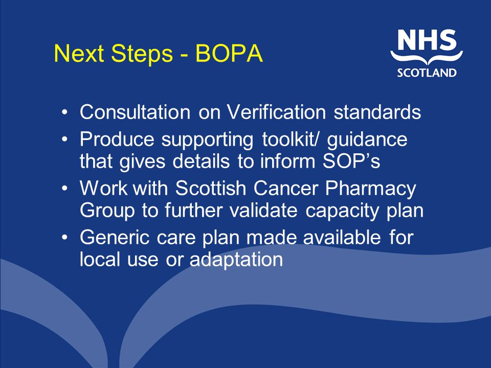 Next Steps - BOPA Consultation on Verification standards