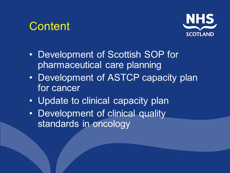 Content Development of Scottish SOP for pharmaceutical care planning