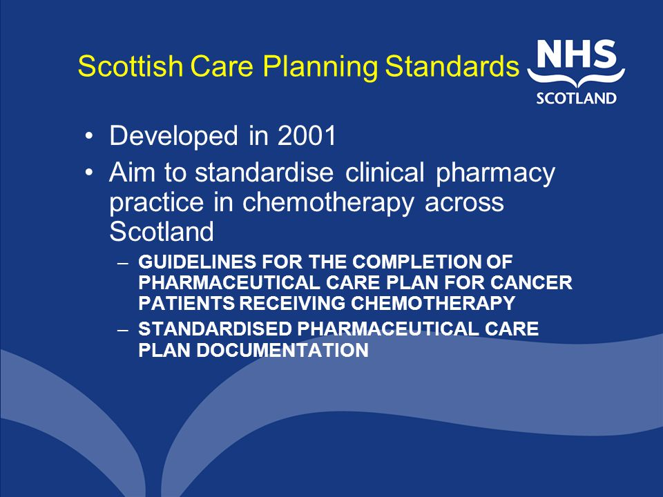 Scottish Care Planning Standards