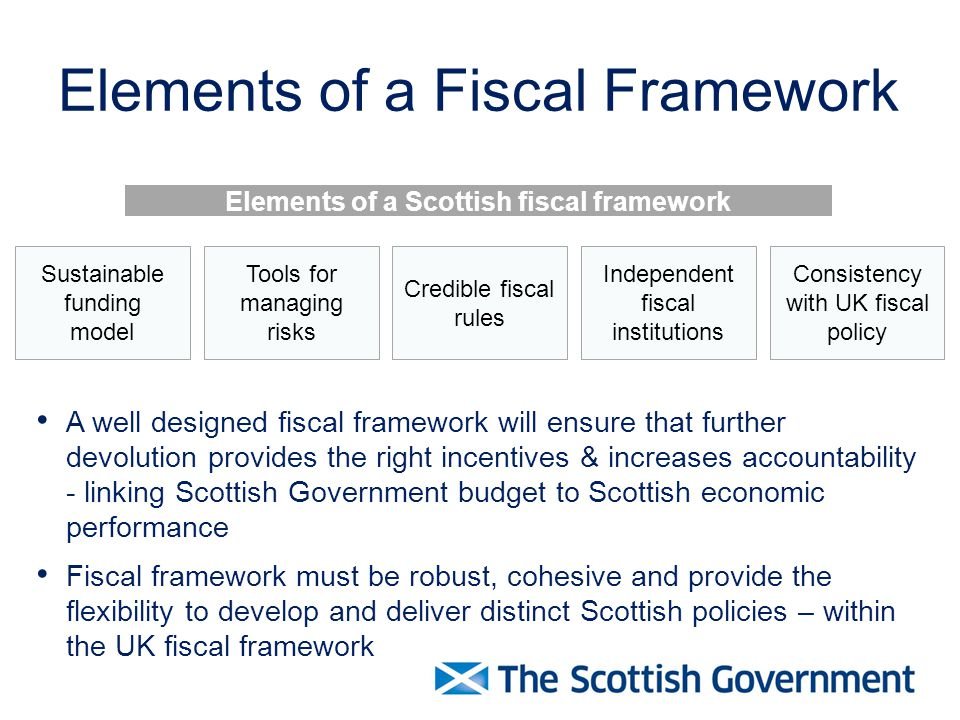 Elements of a Fiscal Framework