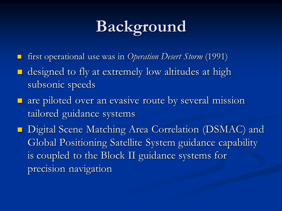 Tomahawk Cruise Missile - ppt video online download