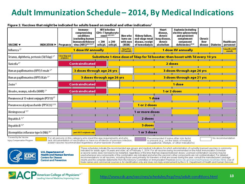Cdc adult immunizations