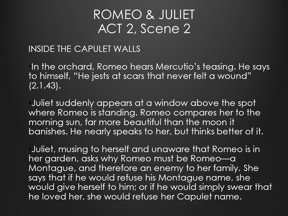 Romeo And Juliet Act 2 Scene Ppt Download